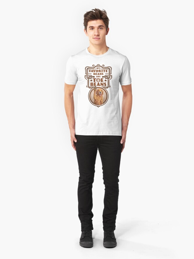 Alternate view of My Favorite Beans Are Toe Beans (Dog) Slim Fit T-Shirt