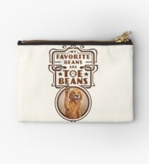 My Favorite Beans Are Toe Beans (Dog) Zipper Pouch