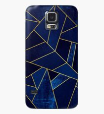 Blue Stone / Yellow Lines Case/Skin for Samsung Galaxy