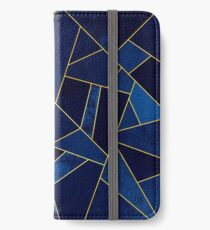 Blue Stone / Yellow Lines iPhone Wallet/Case/Skin