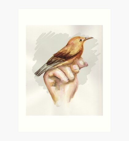 Baby Water bird Art Print