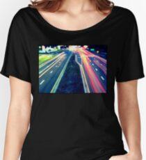 Long Exposure Street Scene. Women's Relaxed Fit T-Shirt