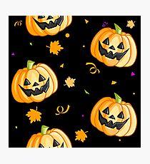 Plastic Pumpkin Print (over black) Photographic Print