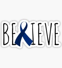Believe – Blue Ribbon Sticker
