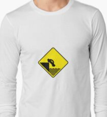 Cliff Road Sign T-Shirt