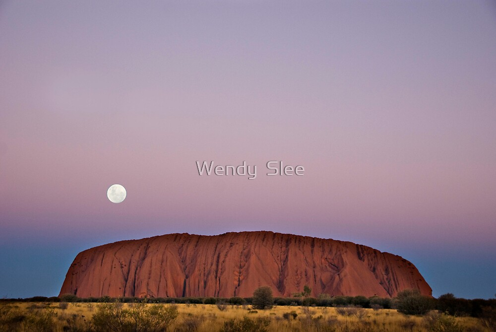Full Moon on the Rock by Wendy  Slee
