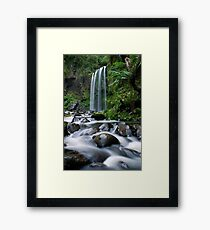 The song of the river starts here Framed Print