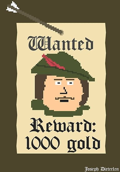 Quot Robin Hood Wanted Poster Quot Posters By Indylion Redbubble