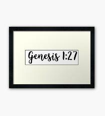 Genesis 1:27 Framed Print