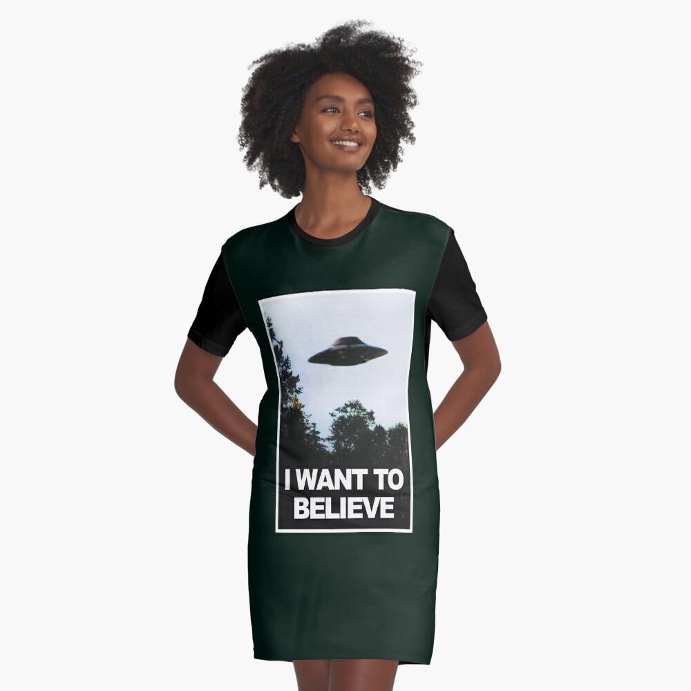 Ich möchte glauben T-Shirt Kleid