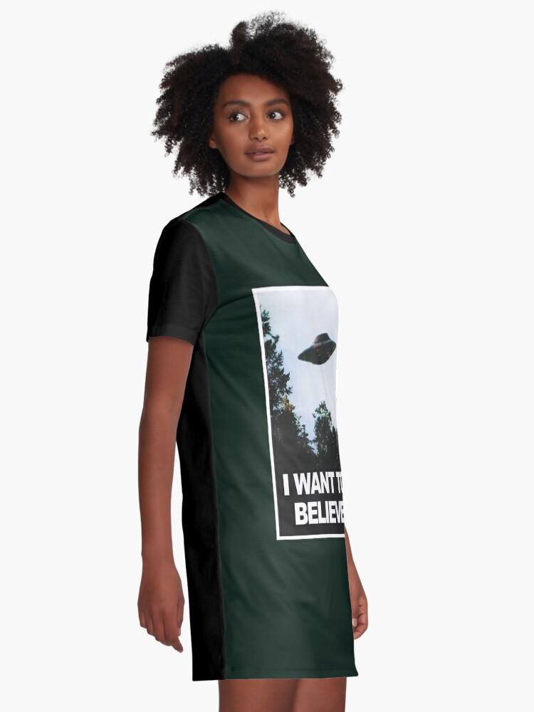 Alternative Ansicht von Ich möchte glauben T-Shirt Kleid