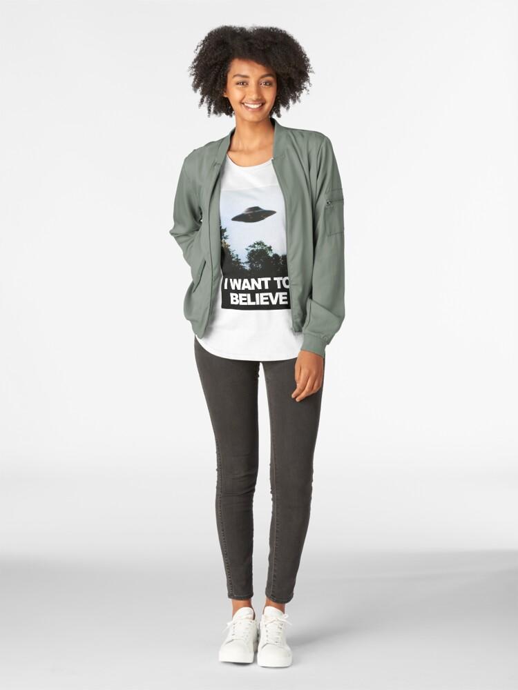 Alternative Ansicht von Ich möchte glauben Premium Rundhals-Shirt
