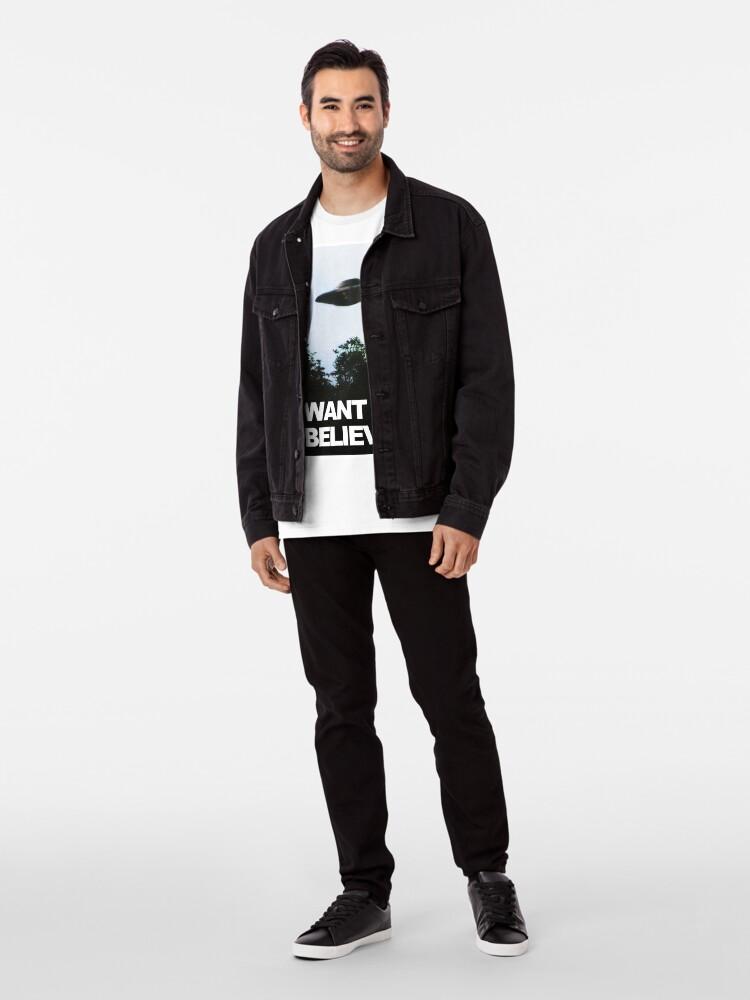 Alternative Ansicht von Ich möchte glauben Premium T-Shirt