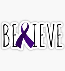 Believe – Purple Ribbon Sticker