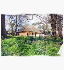 Thatched cottage at Bunratty Poster