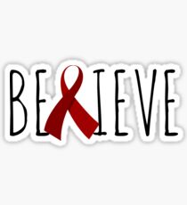 Believe – Red Ribbon Sticker