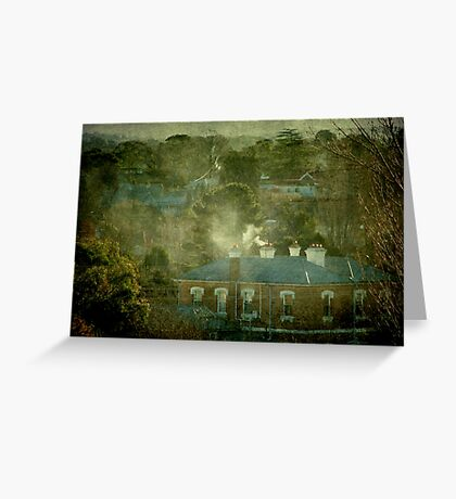 A Winter's Afternoon in Town - Uralla, NSW, Ausralia Greeting Card