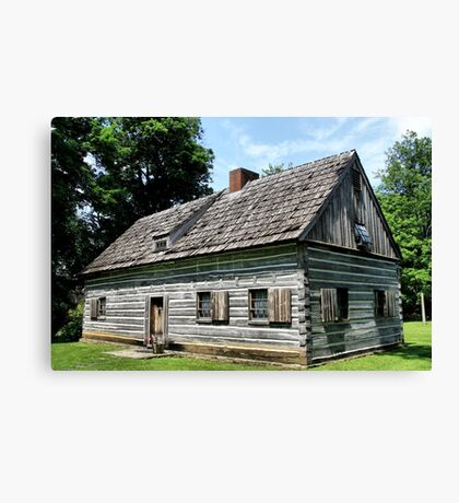 Gray Cottage Canvas Print