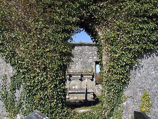 Killinaboy church window by John Quinn