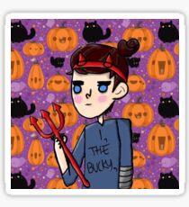 bucky barnes halloween art Sticker