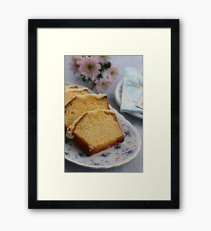 Moist Orange Cake   Framed Print