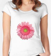 Pink Gerbera Daisy Women's Fitted Scoop T-Shirt