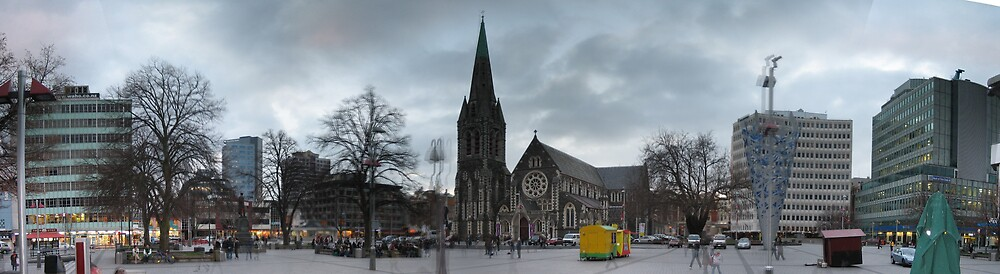 Christchurch - Panoramic by Andrew Caple