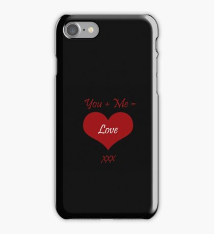 You Plus Me is Love iPhone Case/Skin