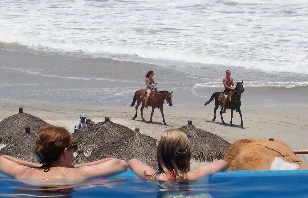 Horses on the Beach. by deegarra