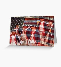 Young Patriots Greeting Card