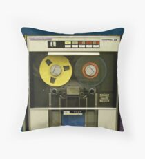Retro Technology Magnetic Tape Drive Throw Pillow