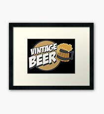 Vintage Beer Framed Print