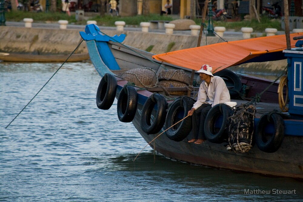 Fisherman in Hoi An, Viet Nam by Matthew Stewart