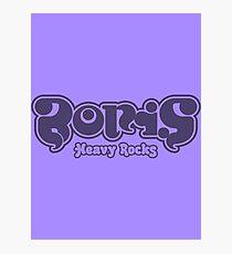 Boris - Purple Heavy Rocks Photographic Print