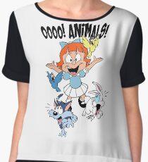 Elmyra Loves Animals Women's Chiffon Top