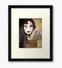 portrait of the assassin Framed Print