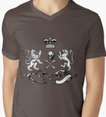 Heraldry Shield Design. Mens V-Neck T-Shirt