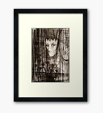 portrait of Lydia and friend Framed Print