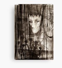 portrait of Lydia and friend Canvas Print