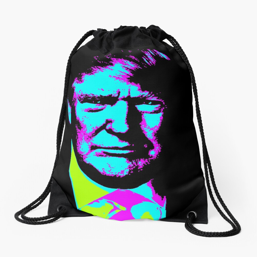 Trump Wave Drawstring Bag