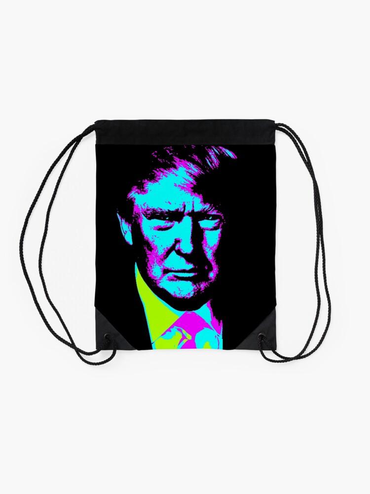 Alternate view of Trump Wave Drawstring Bag