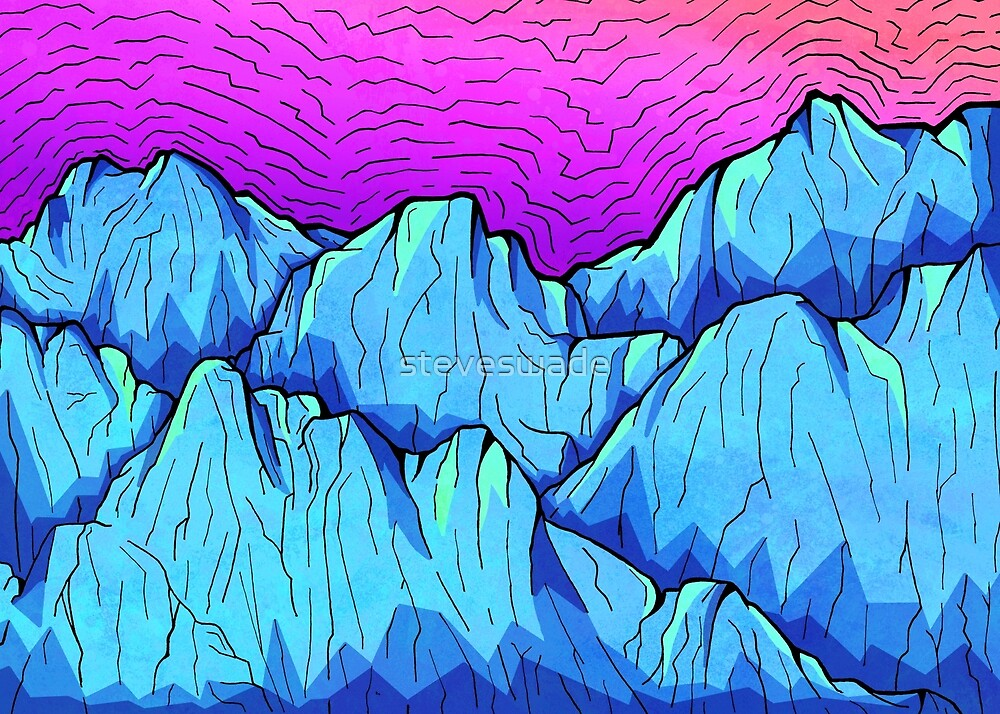 Blue Tone Mountains by steveswade