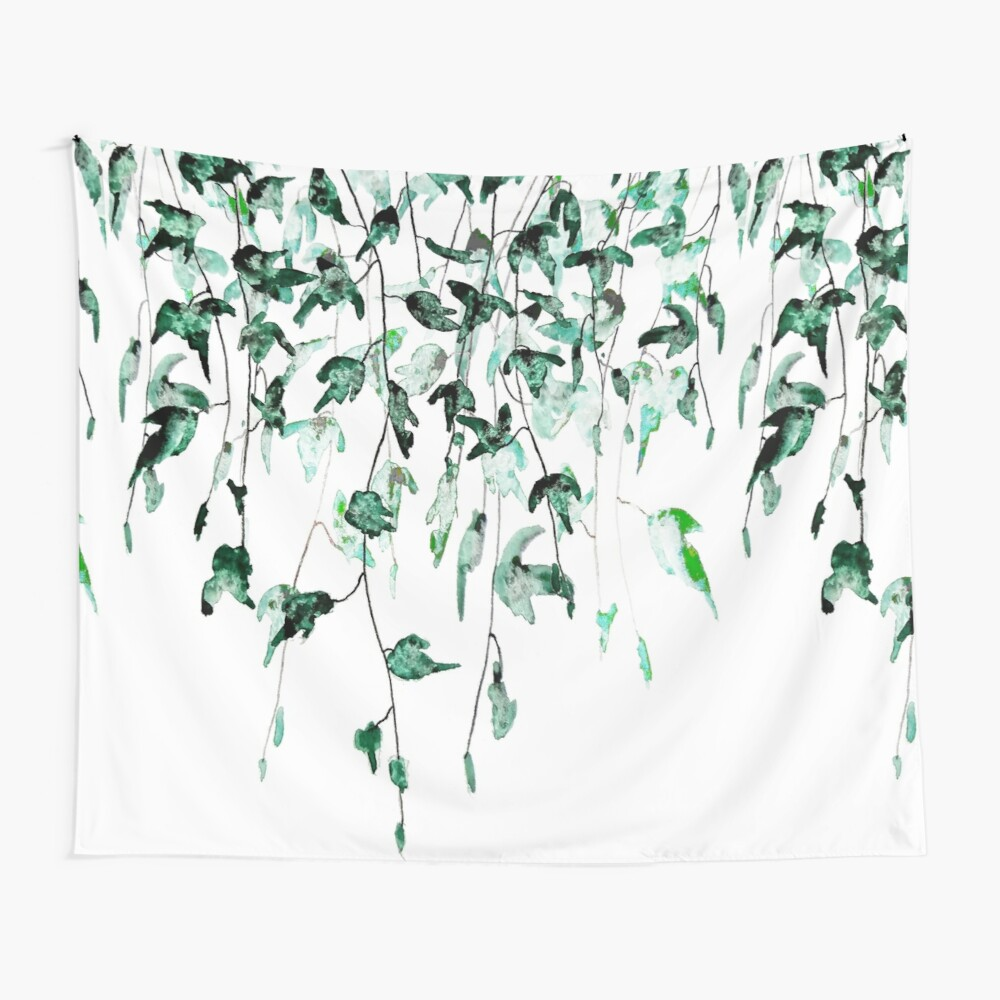Ivy on the wall  Wall Tapestry