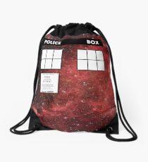 Through Time and Space Drawstring Bag