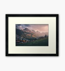 Evening in the Mountains Framed Print