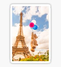 Funny Sky Trip Paris Sticker