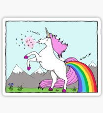 Unicorns sneeze glitter and fart rainbows! Sticker