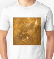 Abstract abandoned car on rusty brown textured background T-Shirt