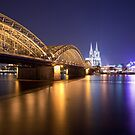 Hohenzollern Brucke and Cologne Cathedral by Kerry Dunstone