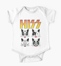 Hiss Kiss - Cats Rock Band One Piece - Short Sleeve
